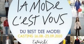 La Mode c'est vous – Du bist die Mode! Online Casting Contest (bis 23.09.)