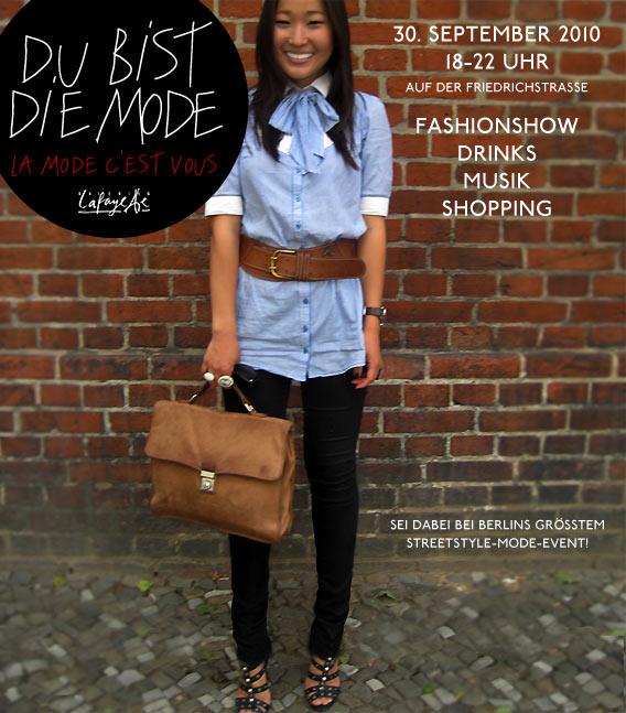 SARUUL ist die Mode beim Streetstyle-Event am 30.09. auf der Friedrichstraße vor den Galeries Lafayette Berlin