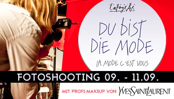 VOGUE Fasion' Night Out - Fotoshooting für das Style Casting DU BIST DIE MODE! der Galeries Lafayette Berlin