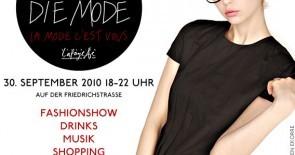 Am 30.09. steigt Berlins größtes Streetstyle-Mode-Event auf der Friedrichstraße