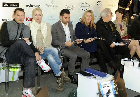 Die Jury für DU BIST DIE MODE, das Streetstyle-Mode-Event der Galeries Lafayette Berlin auf der Friedrichstraße