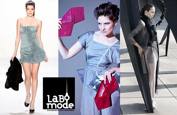 LABO MODE festliche Mode - neue Designer in den Galeries Lafayette Berlin, in Zusammenarbeit mit der ESMOD Modeschule Berlin