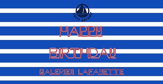 15 Jahre Galeries Lafayette in Berlin - Petit Bateau gratuliert!