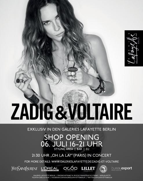 Zadig & Voltaire - exklusives Shop Opening in den Galeries Lafayette Berlin