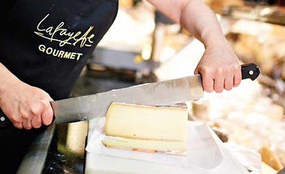 Raclette-Käse bei Galeries Lafayette Berlin