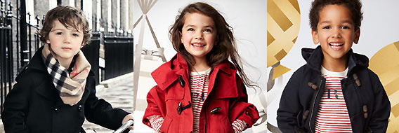 BURBERRY childrenswear at Galeries Lafayette Berlin