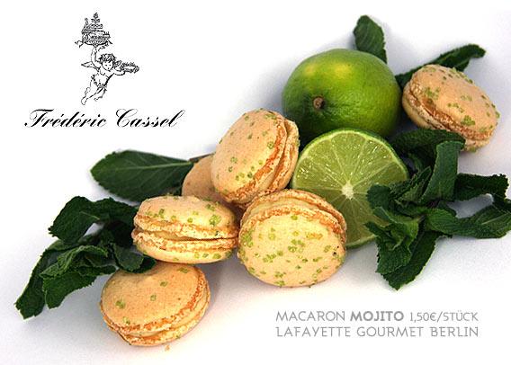 Majito, Macaron des Sommers 2013 von Frédéric Cassel bei Lafayette Gourmet Berlin