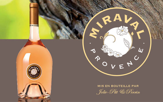 Miraval, bottled by Jolie-Pitt and Perrin, in Berlin exklusiv bei Lafayette Gourmet