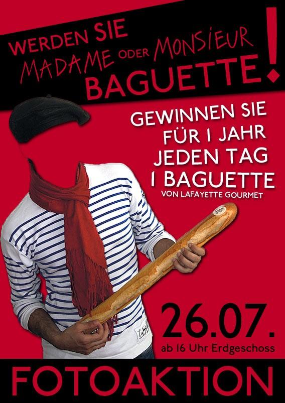 Lafayette Gourmet sucht Madame oder Monsieur Baguette