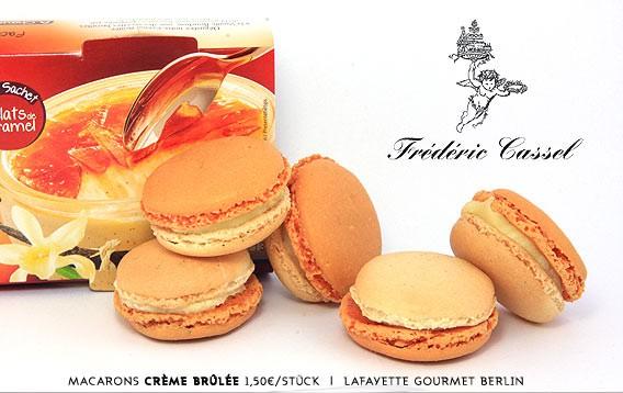 Créme Brulée - Macaron des Monats | Frédéric Cassel | Lafayette Gourmet Berlin