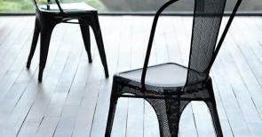 Stühle von Tolix. Französisches Design in unserer Gourmet-Abteilung