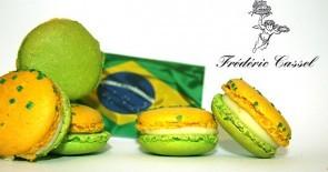 "Macaron ""Brazil""! Frédéric Cassels Hommage an den Gastgeber der Fußball WM"