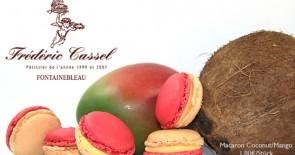 Eine Reise in die Südsee: Der Macaron des Monats von Frédéric Cassel mit Kokosnuss und Mango