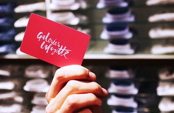 Galeries Lafayette Geschenkkarte