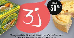 3J mit bis zu -50% im Le Gourmet