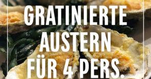 Rezept: Gratinierte Austern für 4 Pers.